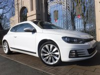 USED 2015 15 VOLKSWAGEN SCIROCCO 2.0 GT TDI BLUEMOTION TECHNOLOGY 2d 182 BHP ****FINANCE ARRANGED****PART EXCHANGE WELCOME***FULL SH*F+R PARKING SENSORS*BTOOTH*NAV*£30TAX*AUTO LIGHTS