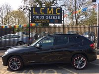 USED 2012 62 BMW X1 2.0 XDRIVE18D SPORT 5d 141 BHP STUNNING SAPPHIRE BLACK METALLIC PAINT, LOVELY CARBON BLACK SPORT INTERIOR, 18 INCH ANTHRACITE ALLOY WHEELS, REAR PARKING SENSORS, BLUETOOTH, CD, STUNNING 4X4, LOW MILEAGE, SERVICE  HISTORY