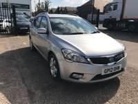 USED 2012 12 KIA CEED 1.6 DIESEL ESTATE MAIN DEALER HISTORY-ESTATE-DIESEL-AIR CON-ALLOY WHEELS