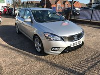 USED 2010 60 KIA CEED 1.6 CRDI 3 5d 113 BHP FULL SERVICE HISTORY-£30 ROAD TAX-BLUETOOTH-ALLOY WHEELS