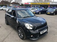 2011 MINI COUNTRYMAN 1.6 COOPER S ALL4 5d 184 BHP IN METALLIC BLACK WITH 61,000 MILES WITH A FULL SERVICE HISTORY £8299.00