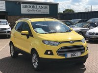 2015 FORD ECOSPORT 1.0 ZETEC 5d 124 BHP Full Ford Service History 2 keepers from new !! £8995.00