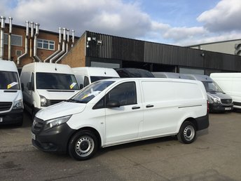 2016 MERCEDES-BENZ VITO 1.6 111CDI LONG 114BHP NEW SHAPE. LOW 33,000 MILES. 1 OWNER. £9450.00