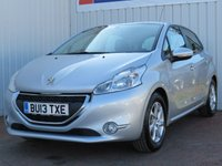 USED 2013 13 PEUGEOT 208 1.2 ACTIVE 5d 82 BHP £20 PER YEAR ROAD TAX