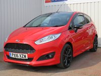 USED 2016 16 FORD FIESTA 1.0 ZETEC S RED EDITION 3d 139 BHP £20 PER YEAR ROAD TAX
