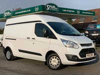 USED 2016 65 FORD TRANSIT CUSTOM 2.2 310 TREND LR P/V 1d 125 BHP Rare 2 Side Doors, High Roof, 310 Heavier Payload.