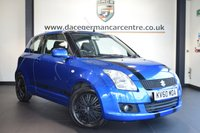 USED 2010 60 SUZUKI SWIFT 1.3 SZ3 3DR 91 BHP FINISHED IN STUNNING BLUE WITH FULL GREY CLOTH UPHOLSTERY + WONDERFULLY MAINTAINED + FM/AM RADIO + AIR CONDITIONING + CD PLAYER + MULTI FUNCTION STEERING WHEEL + ELECTRIC MIRRORS