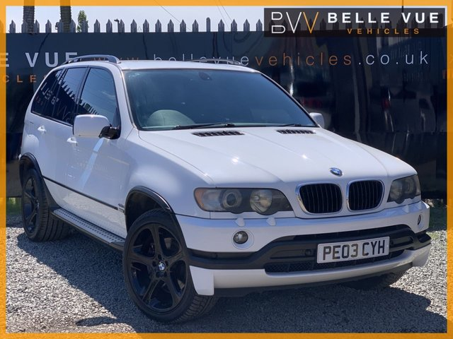 USED 2003 03 BMW X5 4.6 IS 5d AUTO 342 BHP *ALPINE WHITE, LOW MILEAGE, STUNNING!*