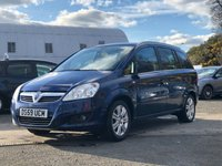 USED 2010 59 VAUXHALL ZAFIRA 1.6 DESIGN 5d 113 BHP 2 PREVIOUS KEEPER *  PART LEATHER *   PRIVACY GLASS *  MOT MARCH 2020 *