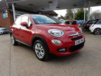 USED 2016 65 FIAT 500X 1.4 MULTIAIR POP STAR 5d 140 BHP ONE OWNER,TWO KEYS,BLUETOOTH,USB AND AUX PORT,SERVICE HISTORY