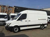 USED 2015 15 MERCEDES-BENZ SPRINTER 2.1 313CDI MWB HIGH ROOF 130BHP LOW 46K. F/S/H. FINANCE. PX LOW 49,454 MILES. F/S/H. 1 OWNER. FINANCE. PX WELCOME