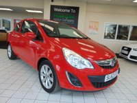 "USED 2012 62 VAUXHALL CORSA 1.0 ACTIVE ECOFLEX 3d 64 BHP LONG MOT + LOW MILEAGE + 16"" ALLOYS + CD RADIO + LOW CAR TAX + ELECTRIC FRONT WINDOWS + REMOTE CENTRAL LOCKING + DRINKS HOLDER"