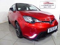 USED 2018 18 MG 3 1.5 STYLE PLUS VTI-TECH 5d 106 BHP One owner, warranty untill 2023, bluetooth telephone, DAB radio, Parking sensors