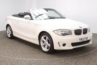 USED 2012 12 BMW 1 SERIES 2.0 118D EXCLUSIVE EDITION 2DR 141 BHP BMW SERVICE HISTORY + HEATED LEATHER SEATS + PARKING SENSOR + BLUETOOTH + CRUISE CONTROL + MULTI FUNCTION WHEEL + AIR CONDITIONING + RADIO/CD/AUX/USB + ELECTRIC WINDOWS + 17 INCH ALLOY WHEELS