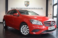 USED 2013 13 MERCEDES-BENZ A-CLASS 1.5 A180 CDI BLUEEFFICIENCY SE 5DR 109 BHP full service history *NO ADMIN FEES* FINISHED IN STUNNING JUPITER RED WITH BLACK HALF LEATHER INTERIOR + FULL SERVICE HISTORY + STYLE PACK + SEAT COMFORT PACK + AIR CONDITIONING + ELECTRIC FOLDING MIRRORS + BLUETOOTH + 16 INCH ALLOY WHEELS