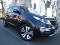 USED 2012 62 KIA SPORTAGE 1.7 CRDI 3 5d 114 BHP *** FINANCE & PART EXCHANGE WELCOME *** ELECTRIC PANORAMIC ROOF FULL BLACK LEATHER PARKING SENSORS BLUETOOTH PHONE CD AUX & USB