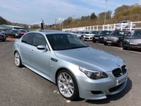 USED 2007 BMW M5 5.0 M5 4d 501 BHP Silverstone II metallic with Black leather, 20 inch BBS Alloys, HUD & stunning example