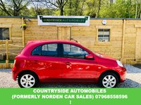 USED 2013 13 NISSAN MICRA 1.2 ACENTA 5d 79 BHP Here we have a stunning example of the very sought after Micra, good specification and in best colour, wine red with black interior, Bluetooth, Air conditioning, Electric windows, just had full service with 2 new tyres. Only £30 a year tax. This car comes with full book pack, has full service history, 2 keys and is in lovely condition.