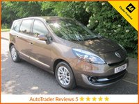 USED 2013 13 RENAULT GRAND SCENIC 1.5 DYNAMIQUE TOMTOM ENERGY DCI S/S 5d 110 BHP Fantastic Lady Owned Renault Grand Scenic with Seven Seats, Satellite Navigation, Half Leather Seats, Climate Control, Alloy Wheels and Renault Service History.
