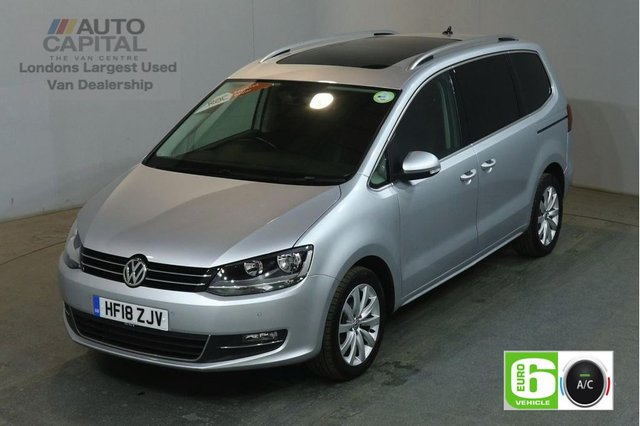 2018 18 VOLKSWAGEN SHARAN 2.0 SEL TDI BLUEMOTION TECHNOLOGY DSG SAT NAV 148 BHP EURO 6 AIR CON 7 SEATER PANORAMIC ROOF