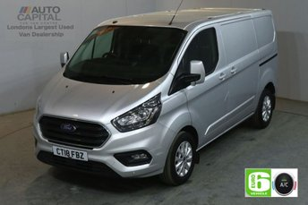 2018 FORD TRANSIT CUSTOM 2.0 300 LIMITED L1 H1 130 BHP SWB EURO 6 AIR CON  £16450.00