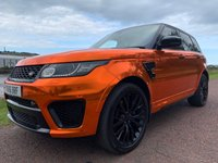 USED 2016 16 LAND ROVER RANGE ROVER SPORT SVR 5.0 V8 SVR 5d AUTO 543 BHP **5 YEAR SERVICE PLAN**