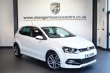"""USED 2016 16 VOLKSWAGEN POLO 1.2 R LINE TSI 5DR 89 BHP full vw service history  *NO ADMIN FEES* FINISHED IN STUNNING WHITE WITH CLOTH UPHOLSTERY + FULL VW SERVICE HISTORY + £20 ROAD TAX + BLUETOOTH + CRUISE CONTROL + HEATED MIRRORS + AIR CON + PARKING SENSORS + 16"""" ALLOY WHEELS"""