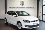 USED 2014 14 VOLKSWAGEN POLO 1.2 MATCH EDITION 5DR 59 BHP *NO ADMIN FEES* FINISHED IN STUNNING WHITE WITH GREY CLOTH UPHOLSTERY + FULL SERVICE HISTORY + PARKING SENSORS +  BEAUTIFULLY MAINTAINED + LOW ROAD TAX + GREAT FIRST CAR + 16 INCH ALLOY WHEELS