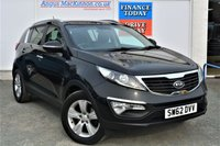 USED 2012 62 KIA SPORTAGE 2.0 CRDI KX-2 5d Family SUV with the Lowest Mileage Example in the UK Full Service History Panoramic Glass Sunroof Rear Parking Sensors and Ready to Drive Away Today ** VERY LOW MILEAGE FOR AGE**