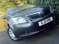 USED 2011 11 TOYOTA AVENSIS 2.0 T2 D-4D 5d 125 BHP
