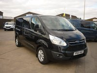 2014 FORD TRANSIT CUSTOM 2.2 290 LIMITED L2H1 DOUBLE CAB IN VAN  124 BHP £11995.00
