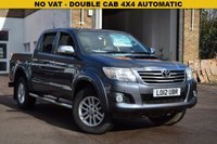 USED 2012 12 TOYOTA HI-LUX 3.0 INVINCIBLE 4X4 D-4D DCB 1d AUTO 169 BHP NO VAT on this 2012 Toyota Hi Lux 3.0d-4d 171 INVINCIBLE DOUBLE CAB 4X4 in grey metallic with a load liner and records for 5 services.