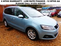 USED 2011 61 SEAT ALHAMBRA 2.0 CR TDI SE DSG 5d 140 BHP All retail cars sold are fully prepared and include - Oil & filter service, 6 months warranty, minimum 6 months Mot, 12 months AA breakdown cover, HPI vehicle check assuring you that your new vehicle will have no registered accident claims reported, or any outstanding finance, Government VOSA Mot mileage check. Because we are an AA approved dealer, all our vehicles come with free AA breakdown cover and a free AA history check.. Low rate finance available. Up to 3 years warranty available.