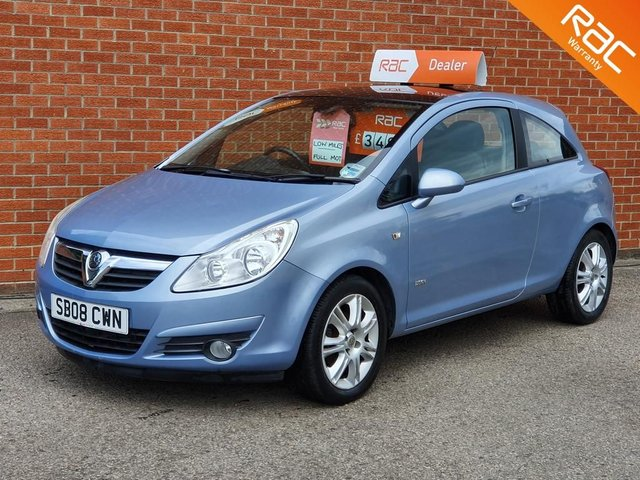 2008 08 VAUXHALL CORSA 1.2 DESIGN 16V 3d  **PANORAMIC ROOF - FULL SERVICE HISTORY **