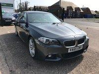 USED 2015 65 BMW 5 SERIES 2.0 520D M SPORT 4d AUTO 188 BHP FULL MAIN DEALER HISTORY-NAV-BLUETOOTH-£30 PER YEAR ROAD TAX-FULL LEATHER-DAB RADIO