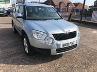 USED 2010 10 SKODA YETI 1.2 SE TSI DSG 5d AUTO 103 BHP AUTOMATIC-FULL SERVICE HISTORY-1 FORMER KEEPER-PARKING SENSORS-A/C-LOW MILEAGE