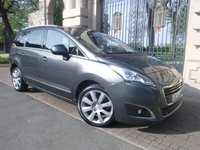 USED 2015 15 PEUGEOT 5008 1.6 BLUE HDI S/S ALLURE 5d AUTO 120 BHP *1OWNER*PANORAMIC ROOF*SAT NAV*£30 TAX*BLUETOOTH*7 SEATS***AUTOMATIC***DIESEL****
