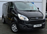 USED 2014 14 FORD TRANSIT CUSTOM 2.2 270 LIMITED Panel Van Absolutely Stunning in Black with Massive High Spec inc Heated Seats Ft and Rr Parking Sensors Rear Camera DAB Digital Radio and Recent Service MOT and Brakes done PREVIOUSLY LOCALLY OWNED