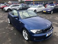 2011 BMW 1 SERIES 2.0 120I M SPORT 2d 168 BHP IN METALLIC BLUE WITH ONLY 42,500 MILES AND A FULL SERVICE HISTORY £8999.00