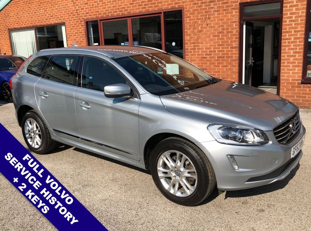 "USED 2014 63 VOLVO XC60 2.4 D4 SE LUX NAV AWD 5DOOR AUTO 178 BHP DAB Radio     :     Satellite Navigation     :     USB & AUX Sockets     :     Automatic Headlights      Car Hotspot / WiFi   :   Cruise Control   :   Bluetooth   :   Climate Control / Air Conditioning      Electric Driver Seat   :   Black Leather Upholstery   :   Auto Tailgate   :   Rear Parking Sensors     18"" Alloy Wheels   :   Full Volvo Service History"