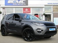 USED 2016 16 LAND ROVER DISCOVERY SPORT 2.0 TD4 HSE LUXURY 5d AUTO 180 BHP STUNNING, 1 Owner, Pan Roof, LAND ROVER DISCOVERY SPORT 2.0 TD4 HSE LUX 4X4, Auto, 180BHP. Finished in CORRIS GREY Metallic with contrasting EBONY Black Heated Leather. This Discovery Sport is practical, incredible off road and a comfy SUV that has 7 Seats that will swallow your family and luggage. FEATURES include BLACK PACK, Panoramic Glass Roof, Electric Rear Boot, Heated Leather, Sat Nav, Reversing Camera, Park sensors, 2 keys and much more.