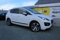 2015 PEUGEOT 3008 1.6 BLUE HDI S/S ALLURE 5d 120 BHP DIESEL WHITE £9990.00