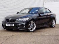 2017 BMW 2 SERIES 2.0 220D M SPORT 2d 188 BHP £16979.00