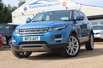 2013 LAND ROVER RANGE ROVER EVOQUE 2.2 SD4 PRESTIGE LUX 5d AUTO 190 BHP £19950.00