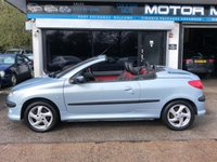 USED 2003 03 PEUGEOT 206 1.6 COUPE CABRIOLET S 2d 110 BHP