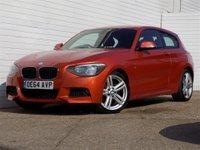 2014 BMW 1 SERIES 2.0 116D M SPORT 3d 114 BHP £7949.00