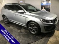 "USED 2014 64 VOLVO XC60 2.0 D4 R-DESIGN 5D AUTO 178 BHP Phone Bluetooth Connectivity         :         R-Design Contrasting Leather Upholstery           Front & Rear Parking Sensors   :   18"" Alloy Wheels   :   Full Volvo Service History"
