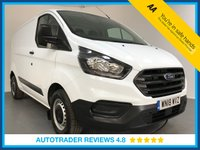 USED 2018 18 FORD TRANSIT CUSTOM 2.0 300 BASE P/V L1 H1 1d 104 BHP FULL HISTORY - 1 OWNER - LATEST SHAPE - REAR SENSORS - BLUETOOTH - PLY LINED - 6 SPEED