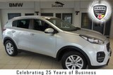 USED 2017 17 KIA SPORTAGE 1.7 CRDI 2 ISG 5d 114 BHP FINISHED IN STUNNING SILVER WITH BLACK CLOTH SEATS + SATELITE NAVIGATION + 17 INCH ALLOYS + BLUTOOTH + DAB RADIO + CLIMATE CONTROL + CRUISE CONTROL + PARKING SENSORS + RAIN SENSORS + LED DAYTIME RUNNING LIGHTS...