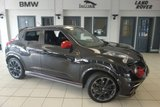 USED 2013 13 NISSAN JUKE 1.6 NISMO DIG-T 5d AUTO 200 BHP FINISHED IN STUNNING BLACK WITH BLACK CLOTH SEATS + FULL SERVICE HISTORY + SATELITE NAVIGATION + AIR CONDITIONING + PARKING SENSORS + BLUTOOTH + LED DAYTIME RUNNING LIGHTS + 18 INCH ALLOYS + PRIVACY GLASS...